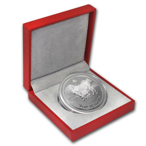 2009 Australia 2 oz Silver Ox BU (Series II, w/Red box)