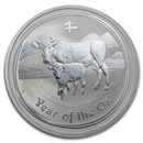 2009 Australia 2 oz Silver Year of the Ox BU (Series II)