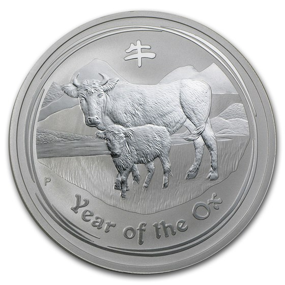 2009 Australia 2 oz Silver Year of the Ox BU (Series II)