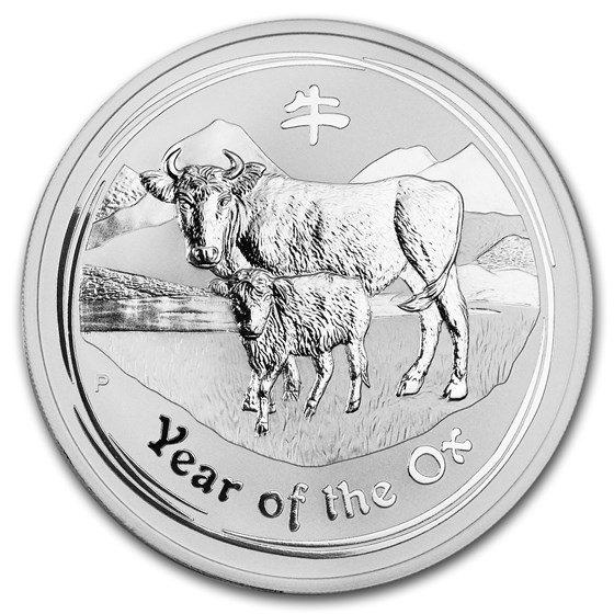 2009 Australia 5 oz Silver Year of the Ox BU (Series II)