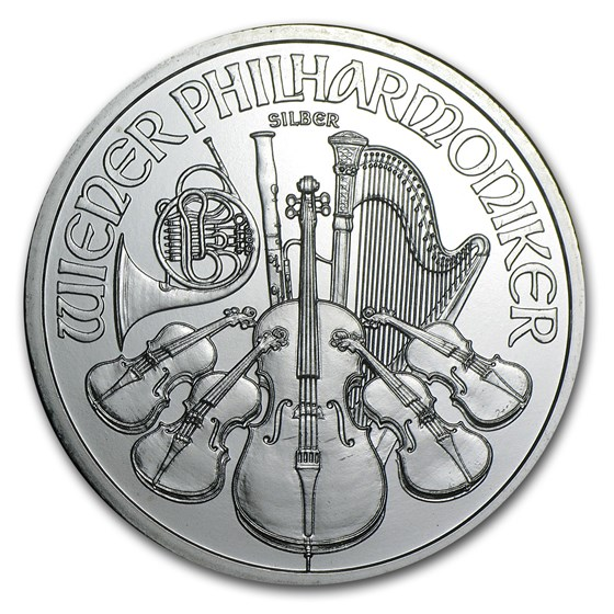 2009 Austria 1 oz Silver Philharmonic BU