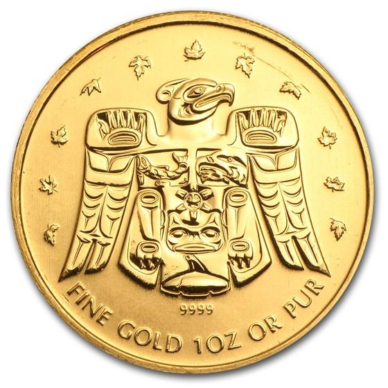 2009 Canada 1 oz Gold Maple BU (Vancouver Olympics, T'bird)