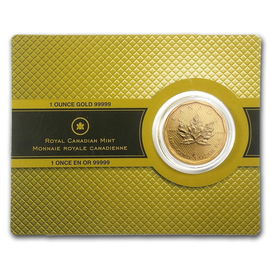 2009 Canada 1 oz Gold Maple Leaf .99999 BU (w/Assay Card)