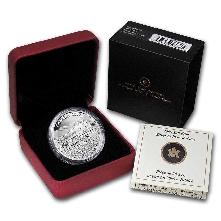 2009 Canada 1 oz Silver $20 Great Locomotives Jubilee