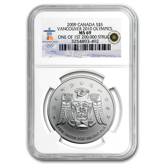 2009 Canada 1 oz Silver Maple Leaf MS-69 NGC (Vancouver)