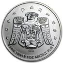 2009 Canada 1 oz Silver Olympic Thunderbird Totem BU