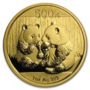 2009 China 1 oz Gold Panda BU (In Capsule)
