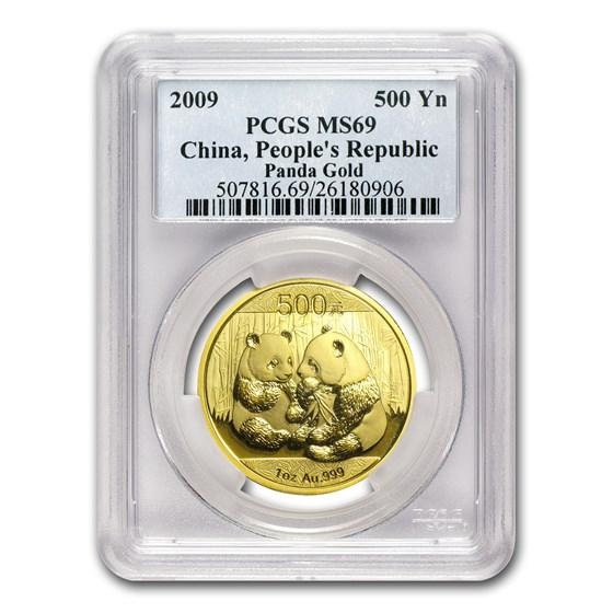 2009 China 1 oz Gold Panda MS-69 PCGS