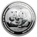 2009 China 1 oz Silver Panda BU (30th Anniversary, In Capsule)