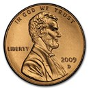 2009-D Lincoln Cent Presidency BU (Red)