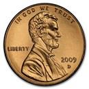 2009-D Lincoln Cent Presidency BU (Red)