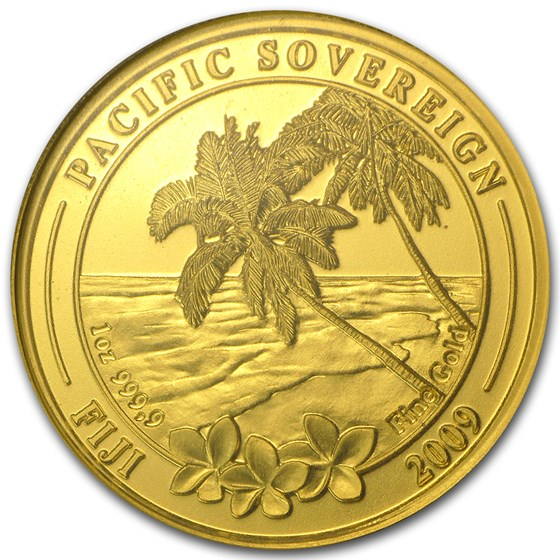 2009 Fiji 1 oz Gold $100 Pacific Sovereign BU