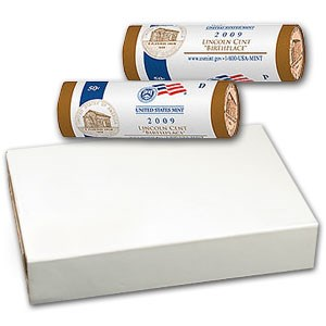 2009 Lincoln Cent Birthplace (P&D 2 Roll Mint Wrapped Set)