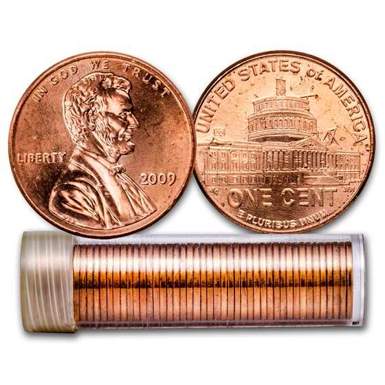 2009 Lincoln Cent Presidency 50-Coin Roll BU