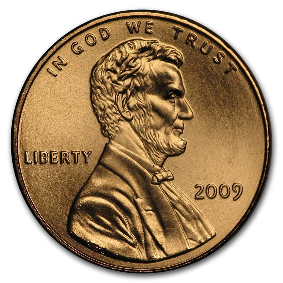 2009 Lincoln Cent Presidency BU (Red)