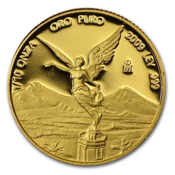 2009 Mexico 1/10 oz Proof Gold Libertad