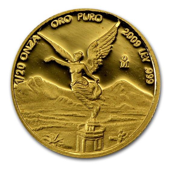 2009 Mexico 1/20 oz Proof Gold Libertad