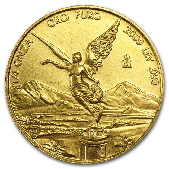 2009 Mexico 1/4 oz Gold Libertad BU