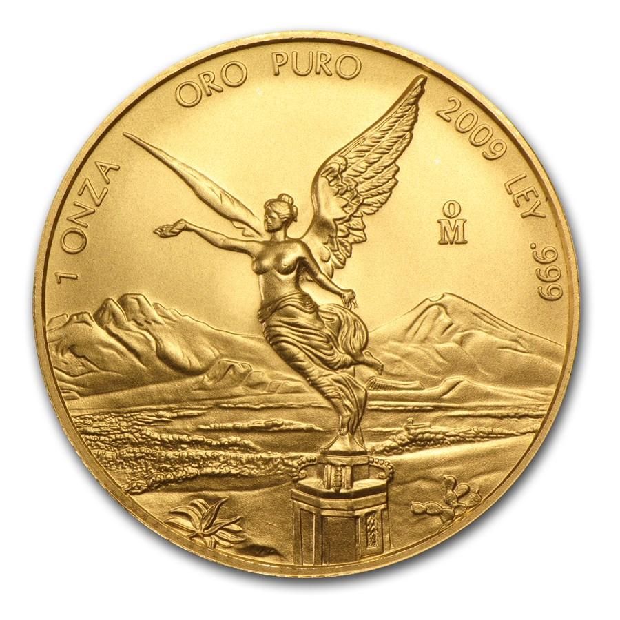 2009 Mexico 1 oz Gold Libertad BU