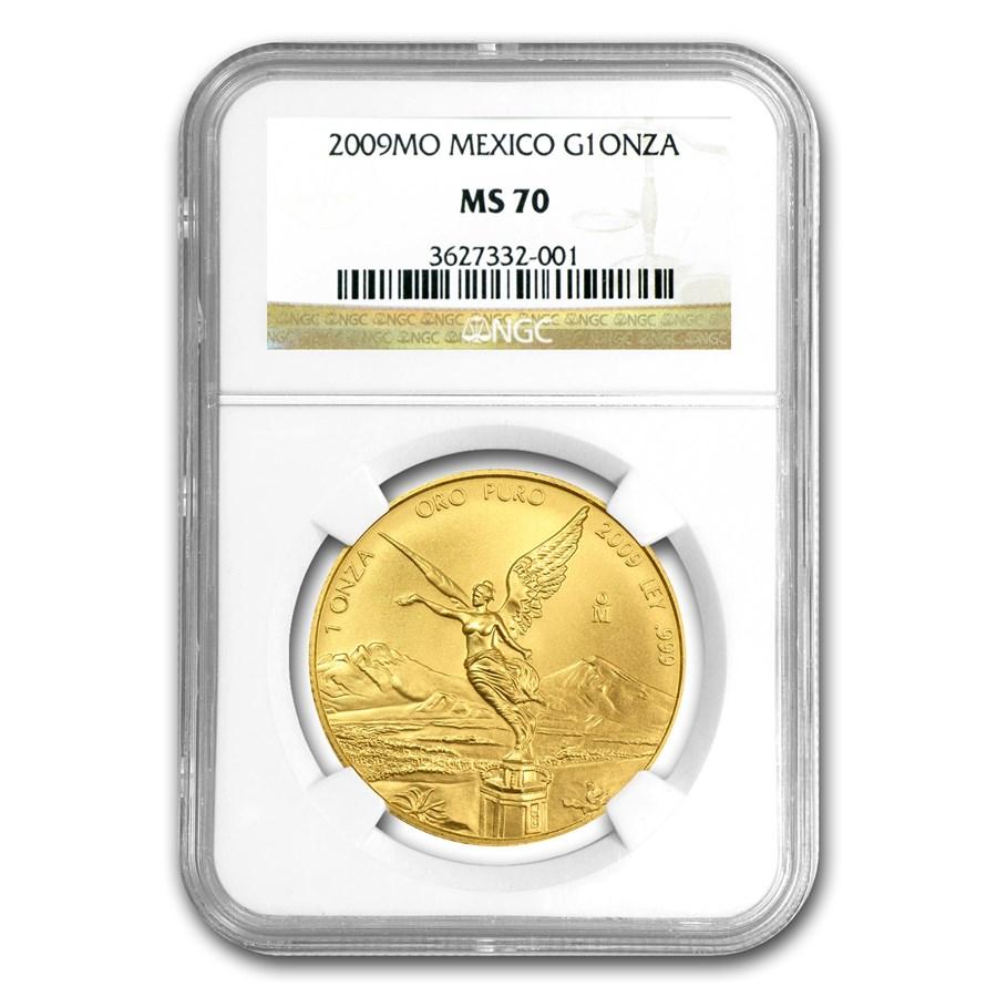 2009 Mexico 1 oz Gold Libertad MS-70 NGC