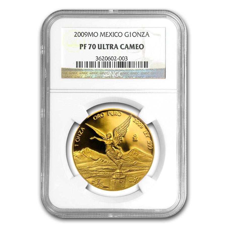 2009 Mexico 1 oz Gold Libertad PF-70 NGC