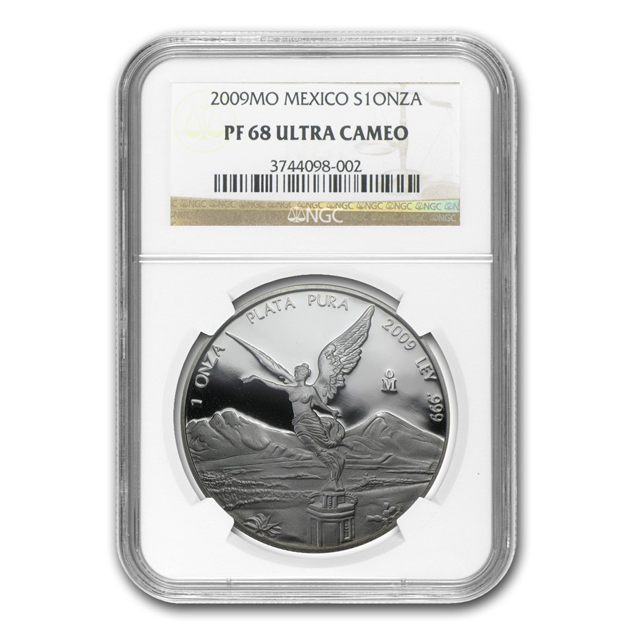 2009 Mexico 1 oz Silver Libertad PF-68 NGC