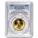 2009 (MMIX) Ultra High Relief Double Eagle MS-70 PCGS