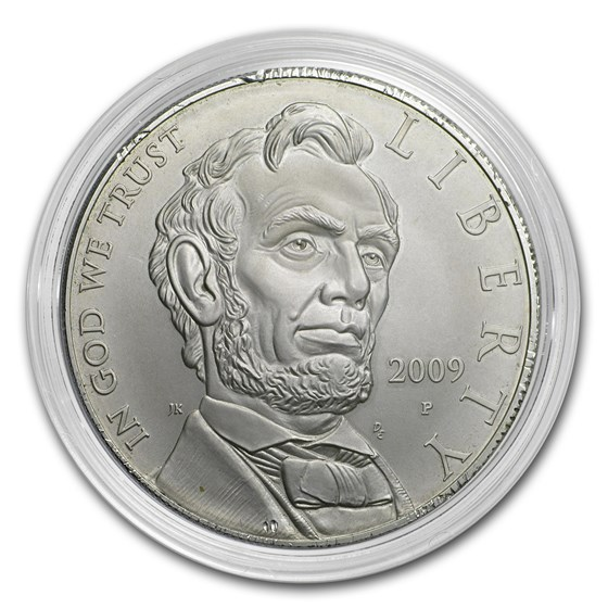 2009-P Abraham Lincoln $1 Silver Commem BU (Capsule only)