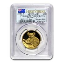 2009-P Australia 1 oz Gold Koala Gem Prf PCGS (FS, High Relief)