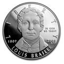 2009-P Louis Braille $1 Silver Commem Proof (Capsule only)
