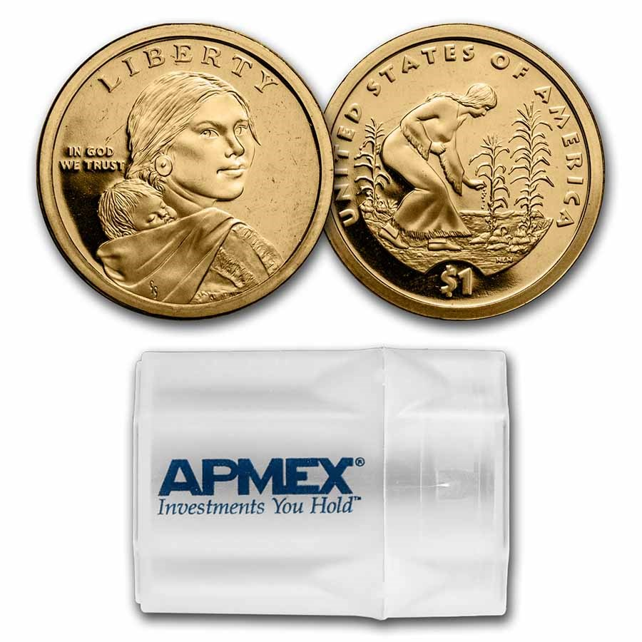 2009-S Native Amer $1 - Three Sisters 20-Coin Roll Gem Proof