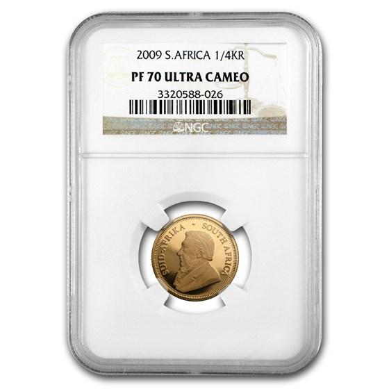2009 South Africa 1/4 oz Gold Krugerrand PF-70 NGC