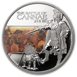 2009 Tuvalu 1 oz Silver Battle of Cannae Proof