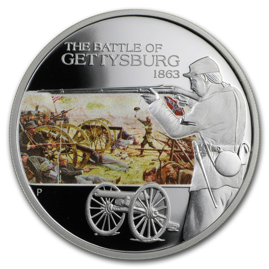 2009 Tuvalu 1 oz Silver Battle of Gettysburg Proof