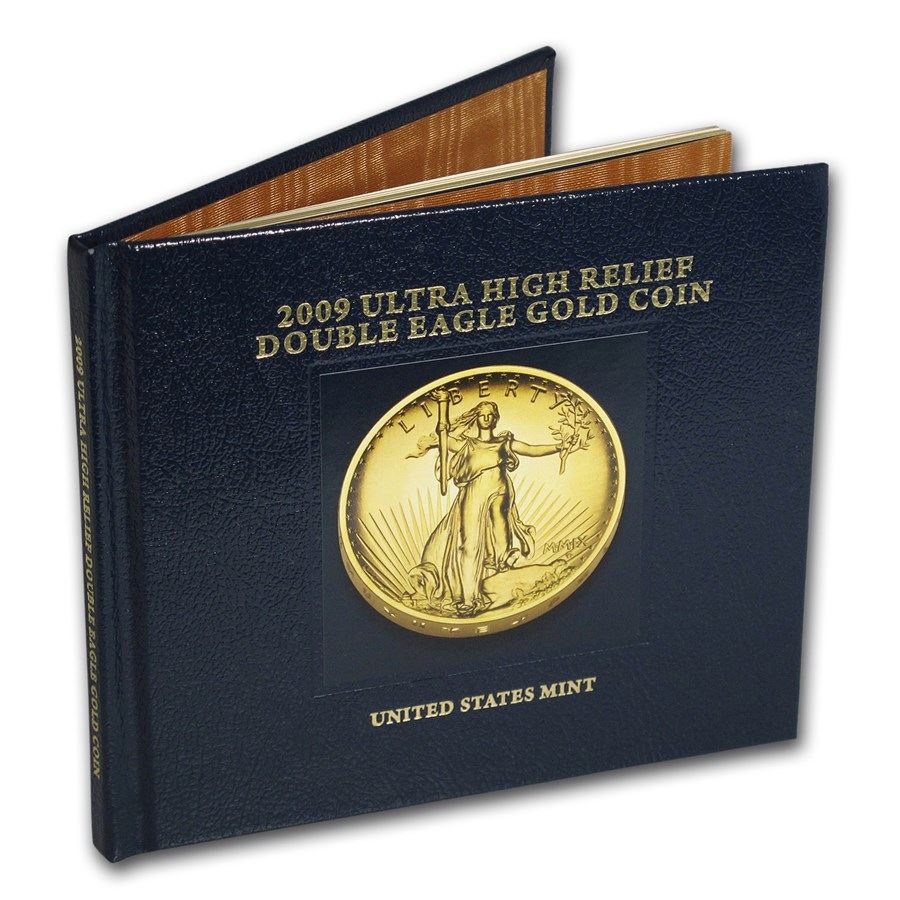 2009 Ultra High Relief Double Eagle Gold Coin Book