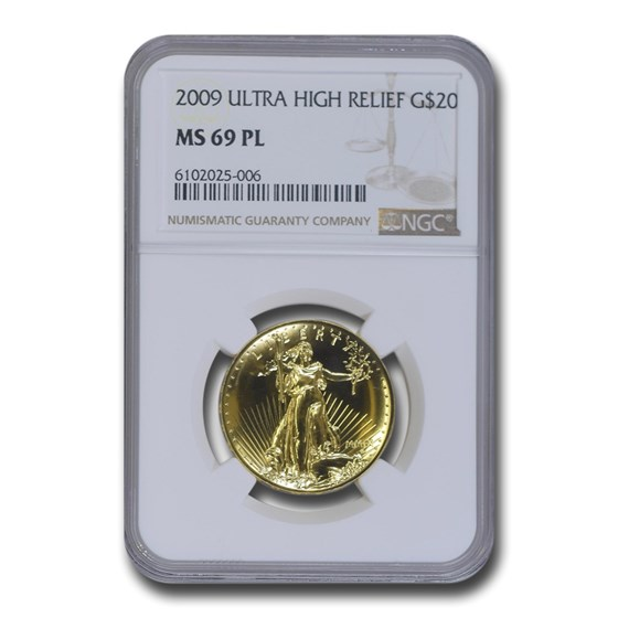 2009 Ultra High Relief Double Eagle MS-69 PL NGC