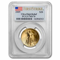 2009 Ultra High Relief Double Eagle MS-70 PCGS (FirstStrike®)