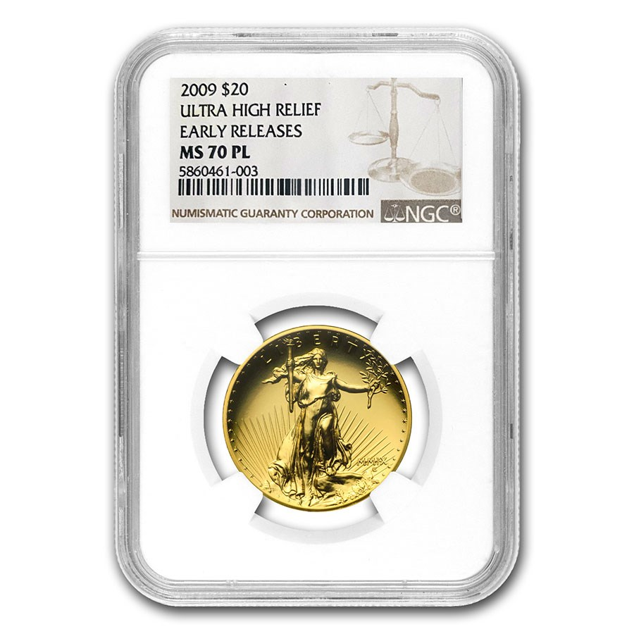 2009 Ultra High Relief Double Eagle MS-70 PL NGC (ER)