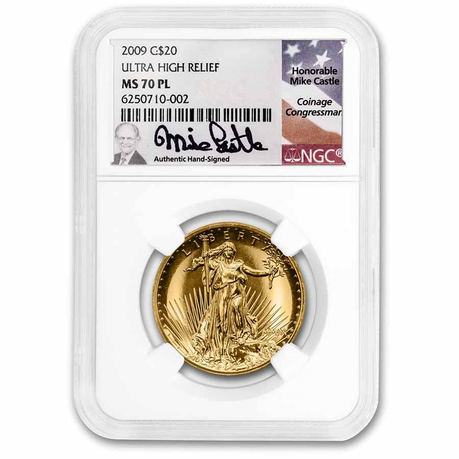 2009 Ultra High Relief Double Eagle MS-70 PL NGC (Mike Castle)