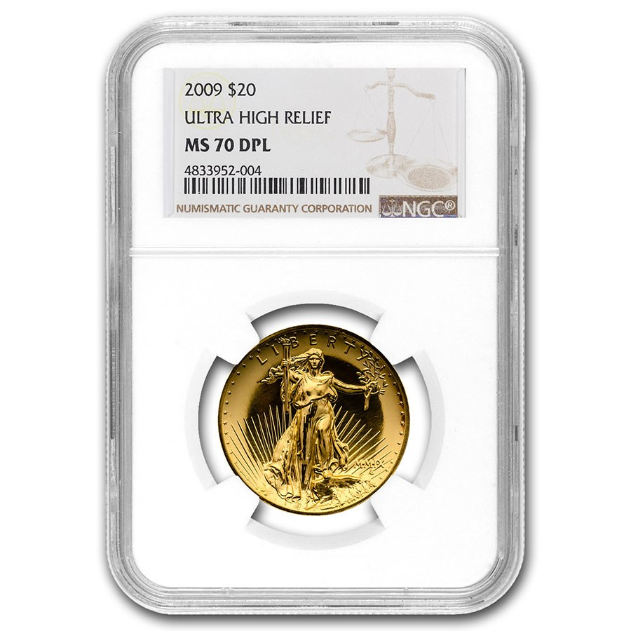 2009 Ultra High Relief Gold Double Eagle MS-70 DPL NGC