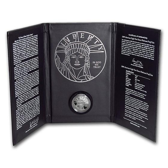 2009-W 1 oz Proof American Platinum Eagle (w/Box & COA)