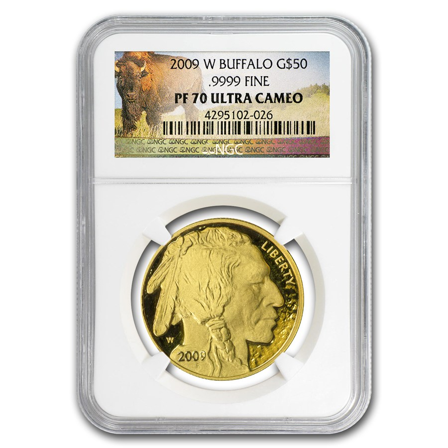 2009-W 1 oz Proof Gold Buffalo PF-70 NGC (Buffalo Label)