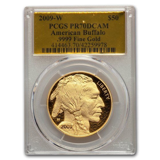 2009-W 1 oz Proof Gold Buffalo PR-70 PCGS (Gold Foil)