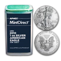 2010 1 oz American Silver Eagles (20-Coin MintDirect® Tube)