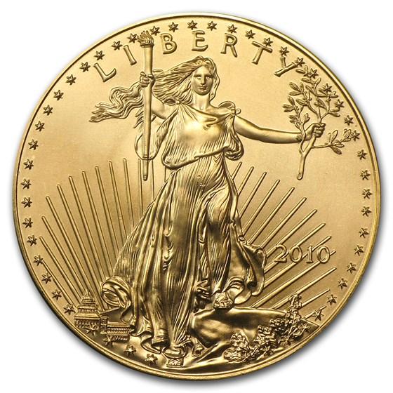 2010 1 oz Gold American Eagle BU