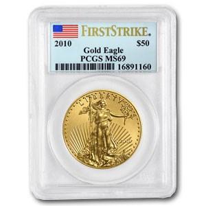 2010 1 oz Gold American Eagle MS-69 PCGS (FS)
