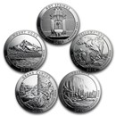 2010 5-Coin 5 oz Silver ATB Set (America the Beautiful)