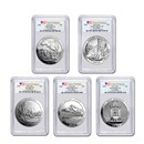 2010 5-Coin 5 oz Silver ATB Set BU PCGS (FirstStrike®)