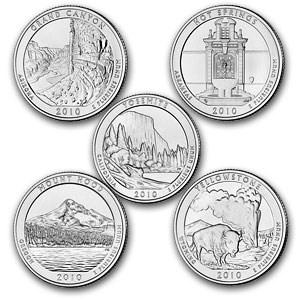 2010 5-Coin 5 oz Silver ATB Set Choice BU PCGS