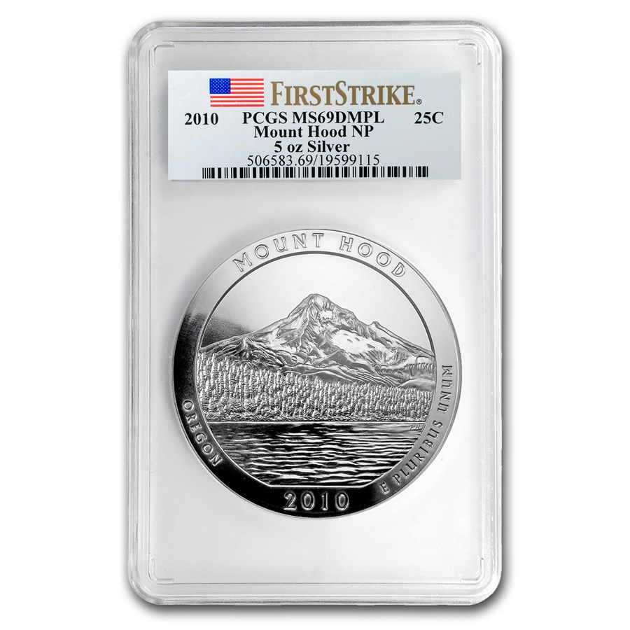 2010 5 oz Silver ATB Mount Hood MS-69 DMPL PCGS (FirstStrike®)